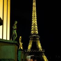 Eiffel Tower Night Photography by LADSPhoto