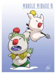 Moogle Gau and Mog by MichaelMayne