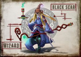 Character design (old)-The wizard-Black scar by ying0129