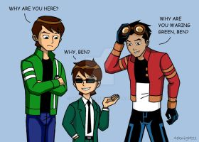 Generator Rex and double Ben by 4eknight11