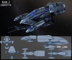 Azen1 Corvette for EVE contest by DesperadoR13