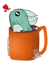 Fish in a cup [request] by BannaBerryCake