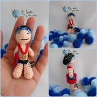 Little swimmer amigurumi by elveawen