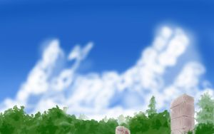 Anime Style Garden Background by wbd