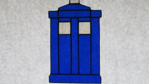 Baby Tardis Stained Glass by captiveaura