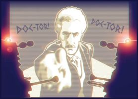 Peter Cushing - Dr. Who and the Daleks by AbelMvada