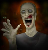 Zombie para Halloween by markyn47