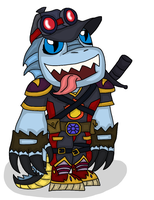 Lizard Face Ready for Questing 4 (killer Black) by MagicArt1