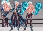 Adopt Auction [CLOSED] Blue Diamond Fox by Avi-Designs