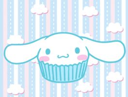 Eating Cinnamoroll Cupcake GIF by OkashiTi
