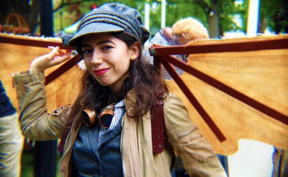 Steampunk City: Winged Mechanic by Sagittarianism