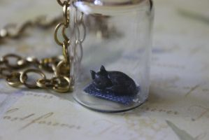 Little Black Puppy necklace by Dellessanna