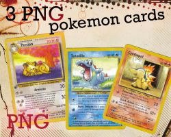 3 PNG pokemon cards by Letterbomb21