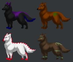Wolf Adoptables -Closed- by SilverDragon2050