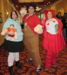 Vanellope, Ralph, and Jubileena at Ichibancon 2014 by MaryRyanBogard
