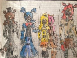FNAF 4 anime version part 1 by CrazyMegaArtist