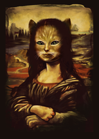 The Secret Revealed Meowna Lisa by dandingeroz