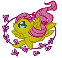 Fluttershy Embroidery 03 by GothyBeans