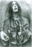 marilyn manson's family by ototoi