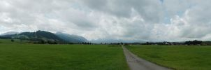 Bavarian Alps pano 1 by BlokkStox