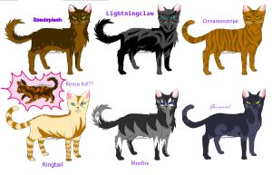 Warrior cat adoptables---open by pandadragon13