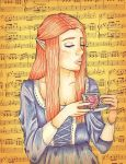 Tea Drinker by Floraella