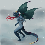 Dragon in Winter by ninebark