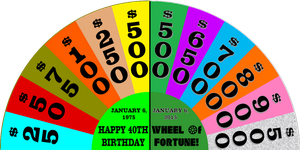 Happy 40th Birthday to Wheel of Fortune by germanname