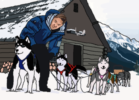 Roger's Sled Dog Team by wahots55