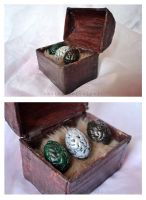 Game of Thrones Dragon Eggs Chest by AnyShapeNecklaces