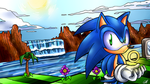 Green Hill Zone by Chicaaaaa