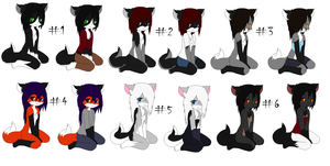 Free  Anthro Adoptables batch 7 by Kitty-of-Doom524