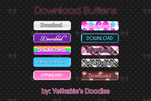 """Download"" Buttons by yettezkiedoodle"