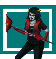 Homestuck: Terezi Pyrope by Quitoxica