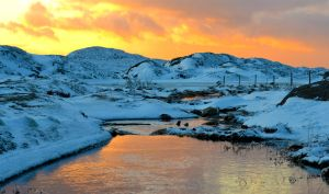 Hodnafjell sunset by N-o-B