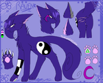 Raven Refrence (2014) by thecatseyefire
