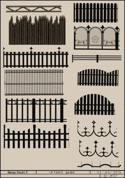 MangaStudio5/ClipStudioPaint 15 Fence Brushes by CyART-CiprianFlorea