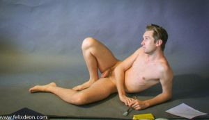 reclining male nude 1 by TheMaleNudeStock
