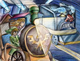 Link vs Demon Train by yurionna