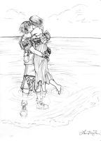 Yuna x Tidus - Besaid Respite by cafe-lalonde