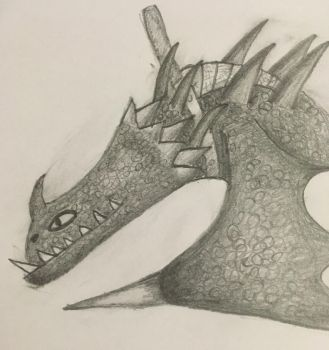 A request- Bristletail - titan skrill drawing by VexyLu