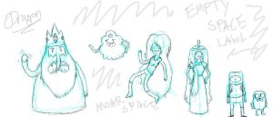 Adventure Time Sketches by SecretAgentRyuu13