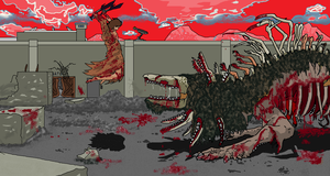 SCP-682 vs SCP-076-2 THE WARRIOR AND  THE DRAGON by dewery2539