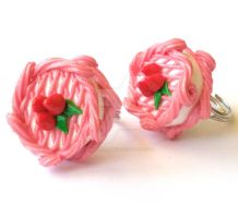 Pink Strawberry Mini Cake Ring by FatallyFeminine