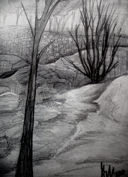 more nature and landscape drawing practice by H-U-L-I