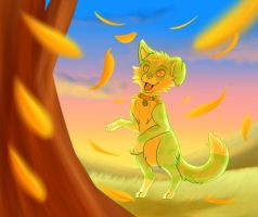 Dancing leaves by Squiggy13