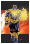 Thanos Of Sinestro Corps - Ryan Carter Colors by SpiderGuile