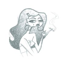 smoking girl by fyre-flye
