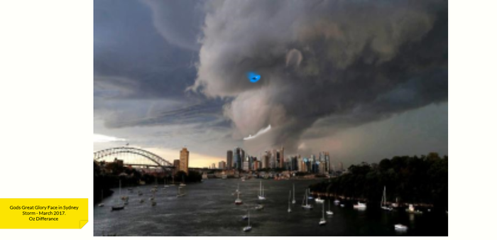 God shows  His Face in Sydney Storms March 17 by Differance7