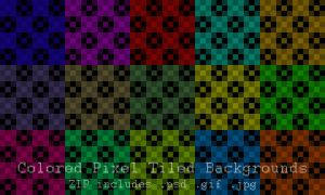 Colored Pixel Tiled Backgrounds by TheFlyinFerret